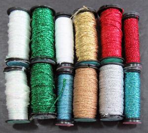 12xNeedlepoint/Embroidery THREAD KREINIK 8 & 16 Braid metallic-mixed-TN93