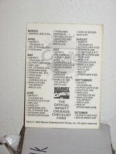 1993 MARVEL COMICS INFINITY CRUSADE PROMO CARD Checklist CAPITAL STORE VARIANT!