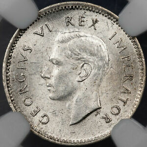 1943 SOUTH AFRICA 3 PENCE NGC MS 63 SILVER BU UNC GORGEOUS LUSTER APPEAL