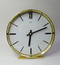 mid century design clock Elegante Tischuhr Kienzle Electric Uhr Messing ~ 60er