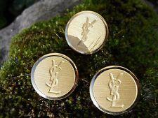 3 Anciens boutons dorés Yves Saint Laurent