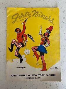 SAN FRANCISCO 49ERS SEPTEMBER 8 1946 FIRST GAME EVER ORIGINAL FOOTBALL PROGRAM