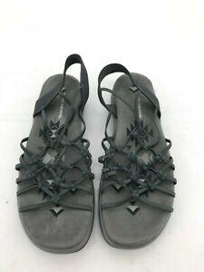 Skechers Women's Open Toe Sandal: Size 11   Grey   Reggae Knotted Web (SH105)