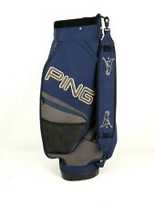 Vintage Ping Cart Carry Golf club Bag Blue 6 Way Solid Cordura