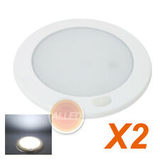 2X12V LED Flourescent Switch Ceiling Light Cool White RV Interior Cabin DownLamp