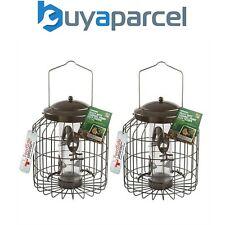 2 x Gardman Heavy Duty Squirrel Proof Fort Wild Bird Seed Feeder Steel A01820