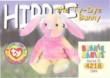 Ty Beanie Babies Bboc Card - Series 2 Common - Hippie the Ty-Dye Bunny - Nm/Mint