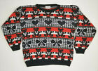 Vintage Ugly Christmas Sweater Youth Size L Teddy Bears Hearts Bows '80s Jet Set