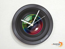 Camera Lense - Photographic Objective - Wall Clock