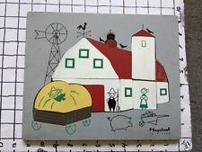 Vintage frame tray puzzle -- PLAYSKOOL -- v early BARN w repair
