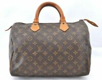 Authentic Louis Vuitton Monogram Speedy 30 Hand Bag Old Model LV B1536