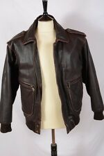 EXCELLENT AVIATOR / A2 STYLE  LEATHER FLYING JACKET S