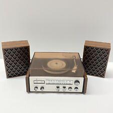 Vintage Mini Stereo With Speakers, AM Radio