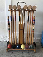Vintage Forster Croquet Set & Stand - 6 Player - Complete