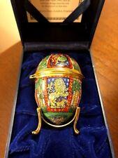 Halcyon Days Enamels 2002 Easter Egg Mib/Coa