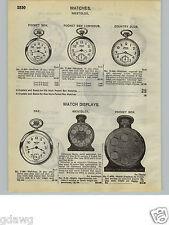 1932 PAPER AD Westclox Pocket Watch Ben Dax Sessions Roamer Bell Boy