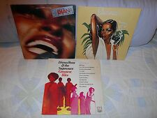"""Diana Ross & The Supremes Greatest Hits Vol 3. """"Ross"""", An Evening With 4 Lps Lot"""