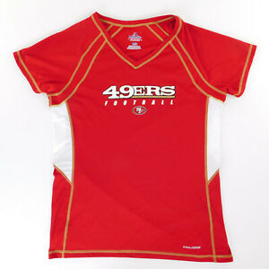 Womans San Francisco 49ers Football Jersey V Neck Large Cool Base wicking
