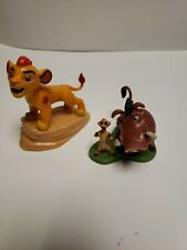 """Disney Store Lion Guard """"Timon and Pumbaa"""" and simba Figure PVC Cake Topper Toy"""