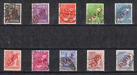 Berlin Einzelmarken aus Mi-Nr. 21-34 Rotaufdruck Berlin gestempelt 1949 o