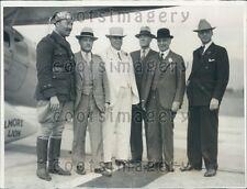 1931 CA Gov James Rolph San Francisco Mayor A J Rossi Pilot Others Press Photo