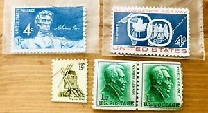 Lot Blue 4c Lincoln & ST LAWRENCE SEAWAY GRAHAM'S STAMPS SCOTT #1131 & More 1959