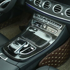 Wood Grain Console Gear Panel Cover Trim For Mercedes Benz E-Class W213 2016-17