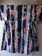 Japanese Summer Kimono Cotton YUKATA Indigo Blue  s1627