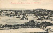 A Bird's Eye View Of Cochecton, New York NY From Damascus, Pennsylvania PA