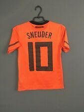 Sneijder Holland Netherlands Jersey 2010 2012 Kids 10-12 y Boys Shirt Nike ig93