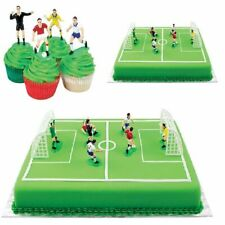 PME Football Soccer Toppers for Birthday Cake and Cupcakes Set of 9 Fan Players
