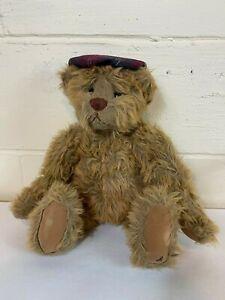 "Ganz Cottage Collectibles Artist Designed Bear 14"" Plush Stuffed Animal"