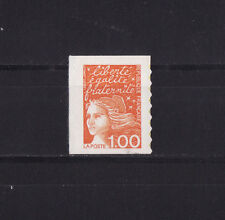 timbre France   Marianne  1f orange  autocollant  3101 **
