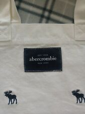 Abercrombie & Fitch Beautiful Vintage Canvas Tote Bag With A&B Logo Print NWT