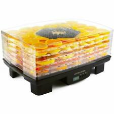 Andrew James AJ992D Food Dehydrator with Adjustable Thermostat - Black