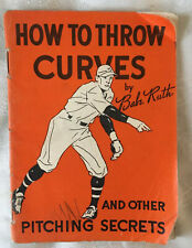 Vintage 1934 Babe Ruth Quaker Oats How to Throw Curves Booklet