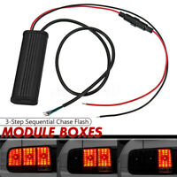 Universal 3-Step Sequential Chase Flash Module Boxes For Car Turn Signal  J