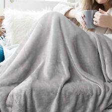 Gray Fleece Blanket Throw Rug Sofa Bedding Home Office Use 59 * 82 inch