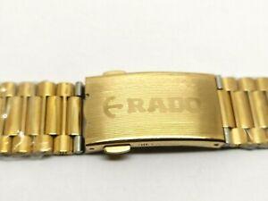 18 MM Rado Diastar 2836 Gold Plated Men Bracelet Watch Band Strap Vintage