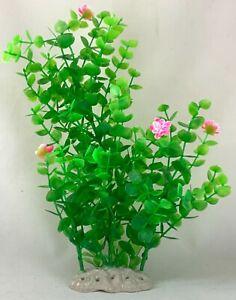 "9"" Artificial Plastic Decoration Aquarium Plant For Fish Tank New Big Bush"