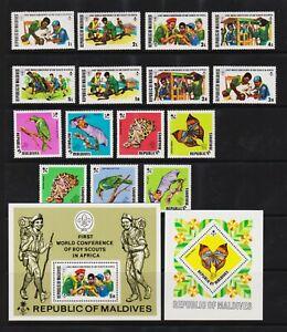 Maldive Islands - 1973 Scouts, Wildlife - cat. $ 47.00