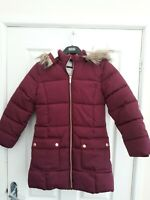 John Lewis Kids Girls Purple Padded Hooded  Jacket Age 10 New with Defect