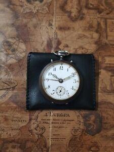 alte Junghans Taschenuhr mit Wecker und Junghans Uhrwerk mit Etui und Revision