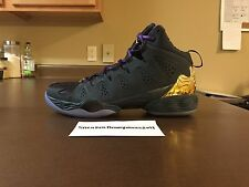 Nike Air Jordan Melo M10 BHM Basketball Shoes Purple Gold Sz 10 647568-005