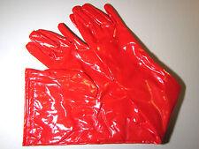 Red Glossy PVC Long Gloves, Medium