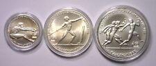 1981 500 250 100 Drachmai GREECE Silver Uncirculated Olympic 3-Coin Set