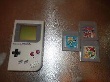 Nintendo Orignal Game Boy with 3 Games- Dr. Mario, Yoshi, Yoshi's Cookie