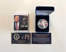 President Donald Trump.. .999 Silver Overlay..2016 Commemorative Coin.. With COA