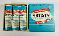 Artista Powder Paint Lot of 3 Box Vintage Deadstock Samples Red Blue Yellow