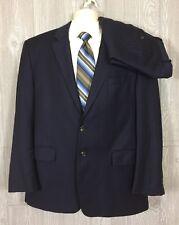 LAUREN Ralph Lauren Mens Navy Striped Cashmere Blend 2pc Suit 44R 38x28.5 (t11)